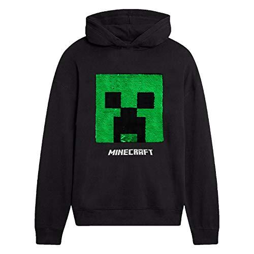 Minecraft Jungen Creeper Hoodie, Kapuzenpullover Kinder, Schwartz...