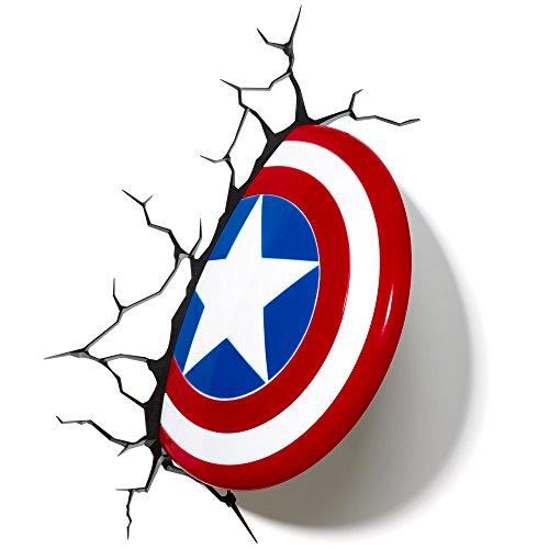 Light 816733002187 Wandleuchte Marvel Captain America-Schild von...