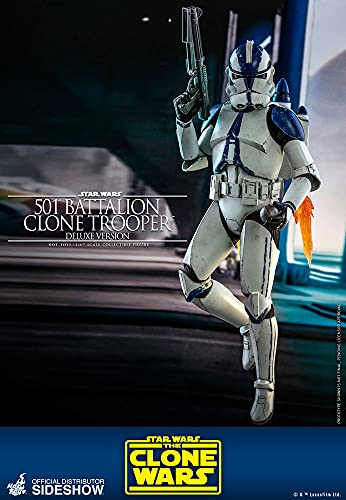 Hot Toys Star Wars The Clone Wars Clone Troopers 501st Battalion...
