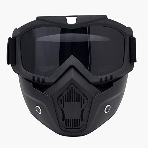 Unisex Airsoft-Vollmaske,Paintball-Maske mit Schutzbrille,...