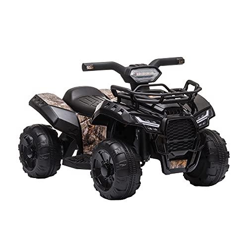 HOMCOM Quad ATV Kinderauto Kinderwagen 6V Akku Elektroauto LED...