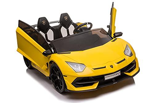 Kinderfahrzeug - 2 Sitzer Elektro Auto Lamborghini Aventador SVJ...