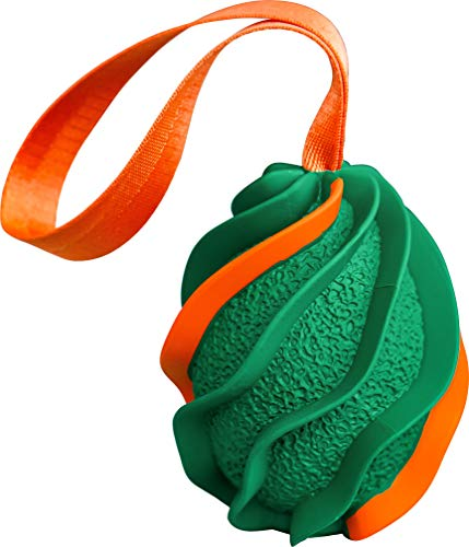 B2Quadrat Dogs Kauspielzeug und Wurfspielzeug mit Seil, extrem...