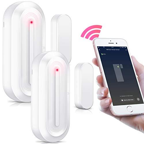 2 Pack PHYSEN Smart WiFi Türsensor mit Magnetsensor, Tür und...