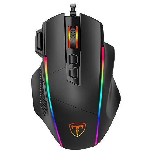 Gaming Maus, Ergonomisch RGB Maus, Holife 8000DPI , 8...