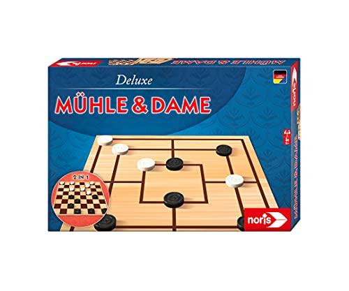 noris 606108012 - Deluxe Mühle und Dame, der beliebte...