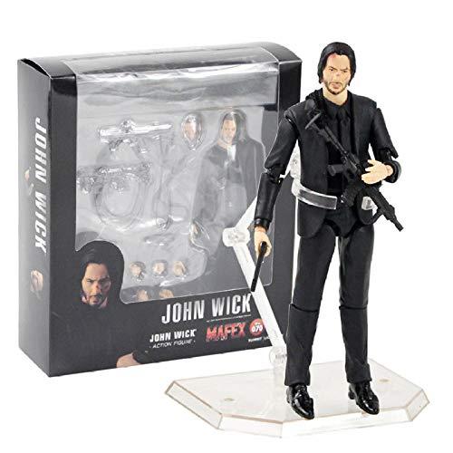 FJKYF Anime Spielzeugmafex Actionfigur John Wick Mit Gun Weapon...