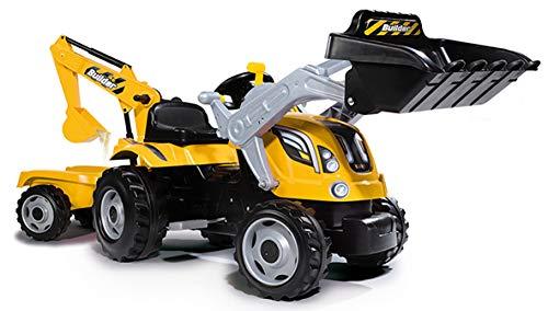 Smoby 7600710301 - Traktor Builder Max - Trettraktor mit...