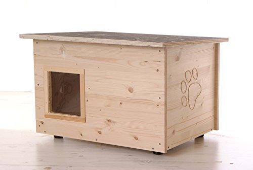 Katzenhaus - Katzenhütte mit Heizung, Boden und Wände...