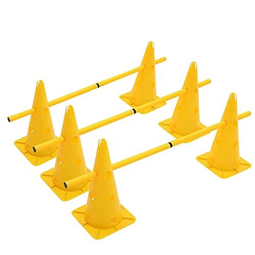 HoitoDeals Gelbes Hürden-Set für Hunde, Spring-Trainingsset...