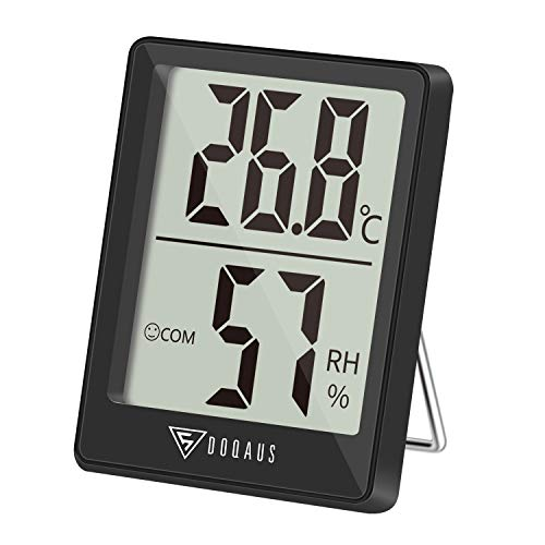 DOQAUS Thermometer Innen, Digitales Thermo Hygrometer Innen,...