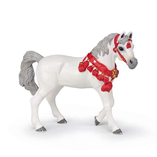 Papo- Arabisches Pferd, Weiß, Paradeanzug, Hühner und Ponys,...