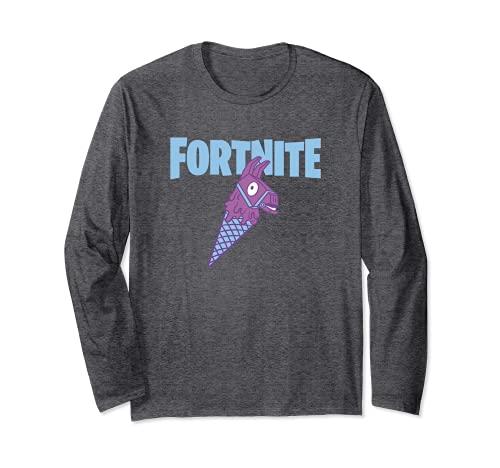 Fortnite Llama Cone Fortnite Logo Langarmshirt
