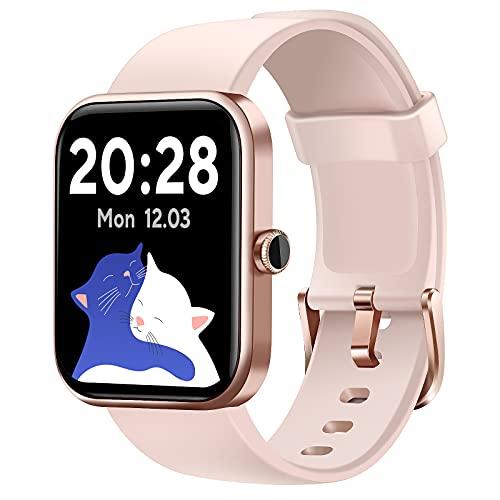 CUBOT Smartwatch Damen, Alexa Integration, 1.7 Zoll Touchscreen...