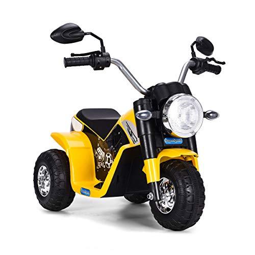 COSTWAY 6V Elektro Motorrad mit Scheinwerfer und Hupe,...