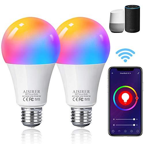 Alexa Glühbirnen E27 Smart LED-Lampe, 10W 1000LM AISIRER WLAN...