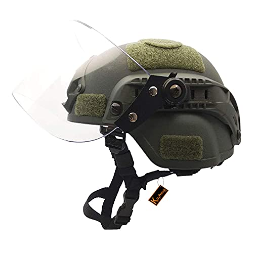 Airsoft Mich 2000 ACH Taktischer Helm mit klarem Visier NVG...