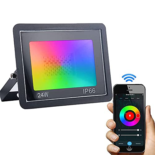 Dogain RGB Strahler 24W Smart LED Strahler Außen, LED Fluter...
