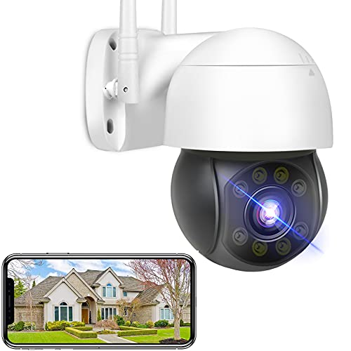 Full HD 5MP WiFi Überwachungskamera Aussen PTZ WLAN IP Kamera...