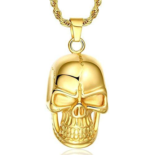 Onefeart Edelstahl Halskette für Damen Männer Terror Elegant...