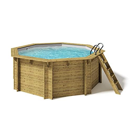 Paradies Pool® Holzpool Kalea Einzelbecken inkl. Zubehör,...