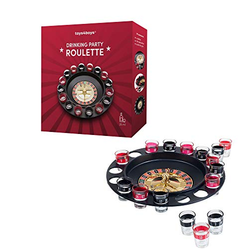 Roulette Trinkspiel Partyspiel mit Drehrad 16 Schnapsgläsern und...
