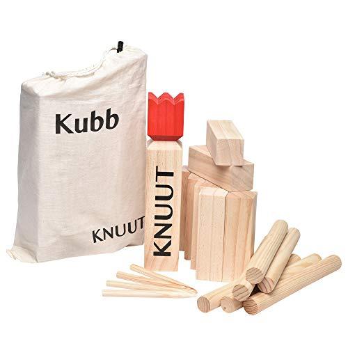 Toyfel Knuut Original Kubb Spiel XXL - FSC® Holzspiel mit...
