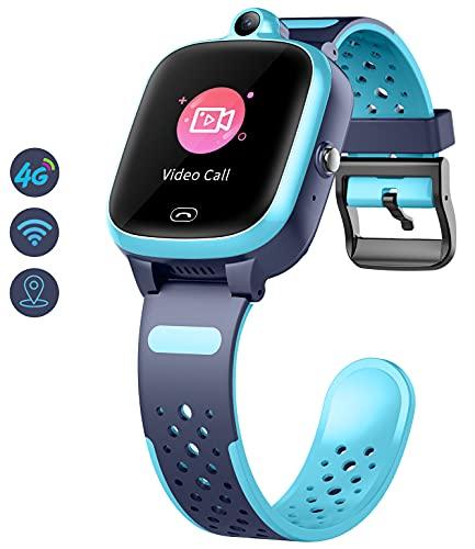 Kinder Smartwatch mit GPS 4g WiFi LBS Tracker Echtzeitposition HD...