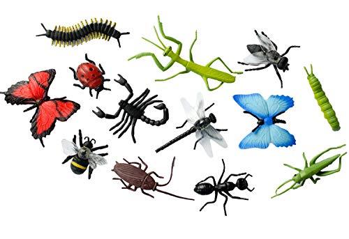 Miniblings 12x Insekten Figuren Aufstellfiguren Tierfiguren...