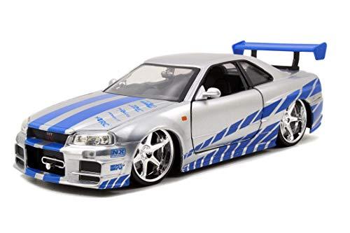 Jada Toys Fast & Furious Brian's 2002 Nissan Skyline GTR-R R34,...