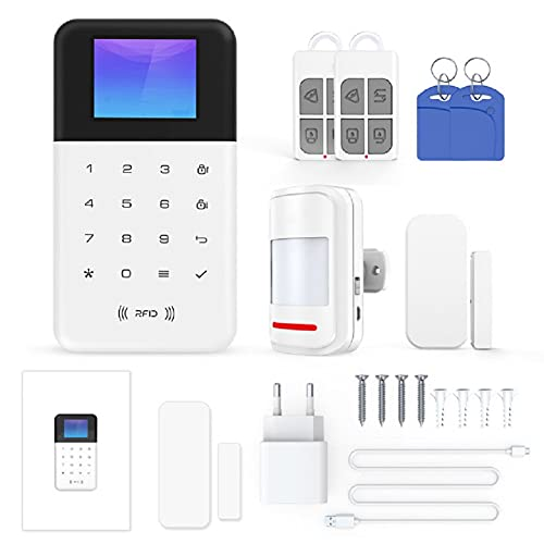 Tuya WiFi Smart Alarm Host Drahtloses GSM + WiFi...
