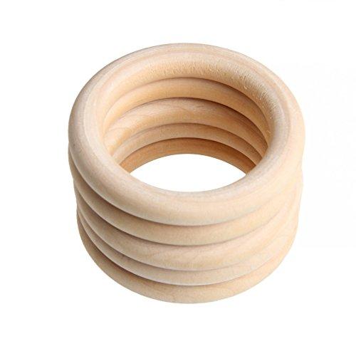 Yunso 5 stücke 70mm Natürliche Holzringe - Beißring aus Holz,...