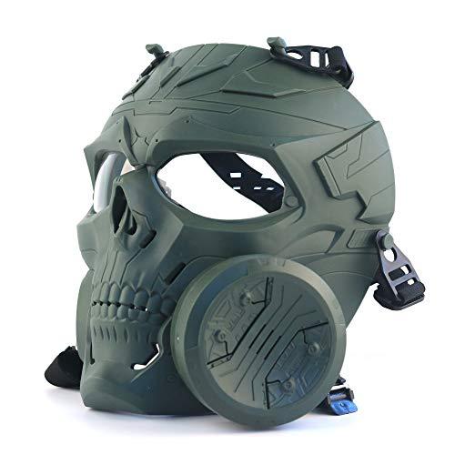 ATAIRSOFT Tactical Skull Vollmaske mit einem Abluftventilator...
