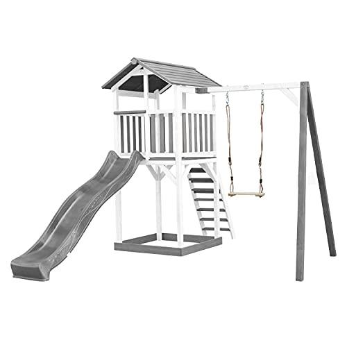 AXI Beach Tower Spielturm aus Holz in Weiß & Grau   Spielhaus...