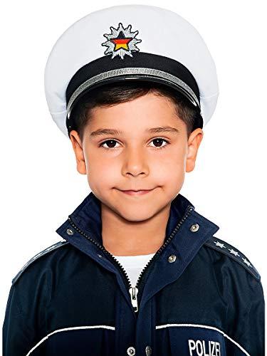 Maskworld Originalgetreue deutsche Polizei-Mütze für kleine...