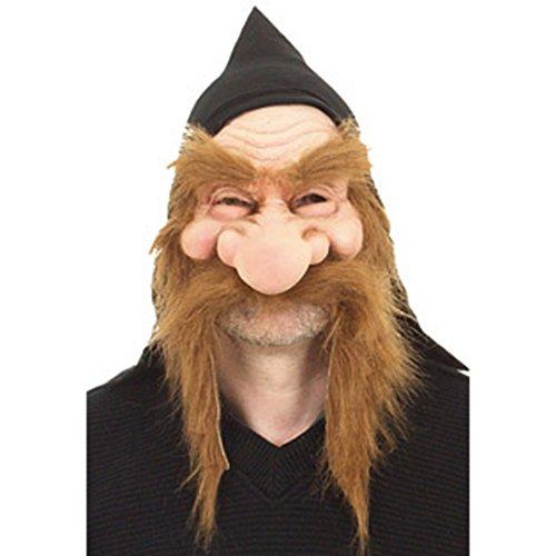 NET TOYS Zwergen Faschingsmaske Latex Maske Gummimaske Zwerg...