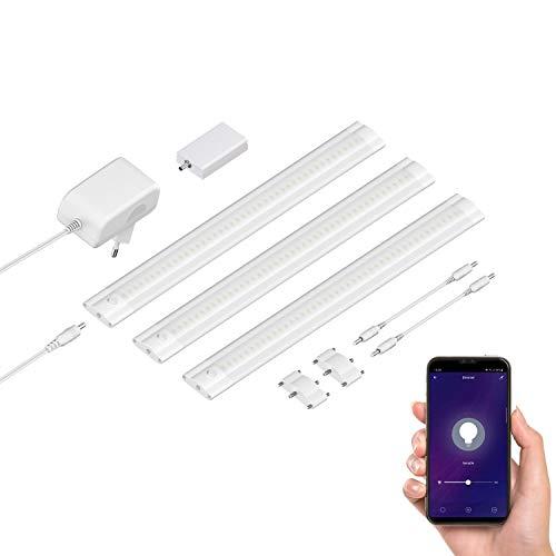 ledscom.de Smarte LED Unterbau-Leuchte SIRIS weiß matt mit...