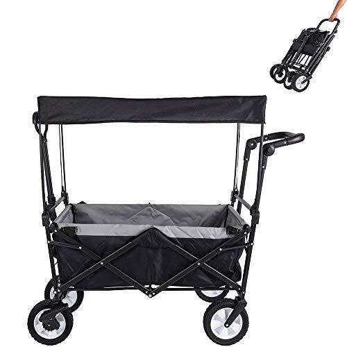 Amazon Brand - Umi Bollerwagen mit Dach Transportwagen...