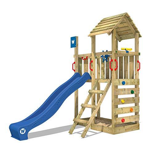 WICKEY Spielturm Klettergerüst Smart Flash mit blauer Rutsche,...
