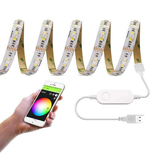 GIDERWEL Smart WiFi USB RGBWW Lichtleiste,3m,funktioniert mit...