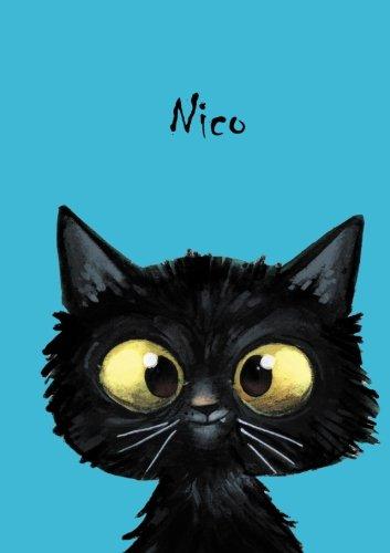 Nico - personalisiertes Notizbuch - Katze: DIN A5 - 80 Seiten -...