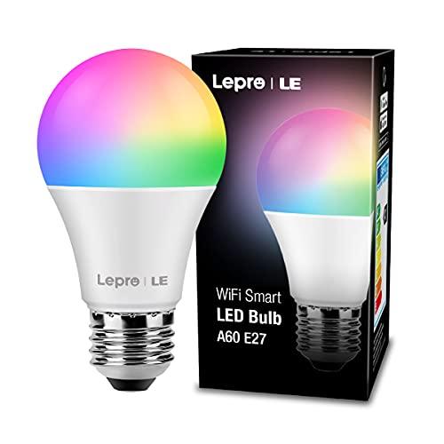 Lepro Smart Lampe, WLAN Glühbirnen E27 Wifi LED Light Bulb 9W...