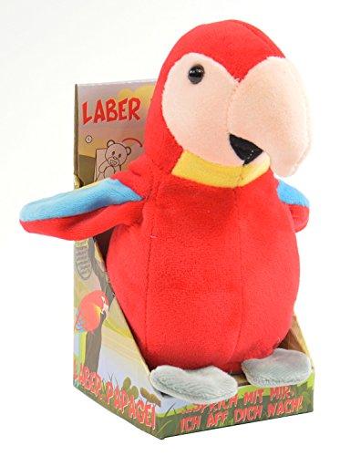 Kögler 75631 - Labertier Papagei Paul, ca. 17,5 cm groß,...