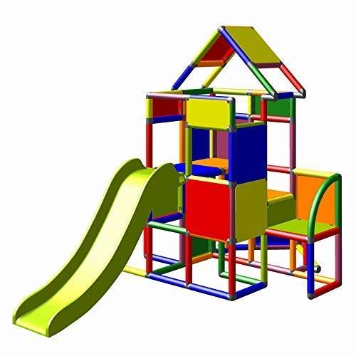 Moveandstic 6013 - großer Spielturm Lisa mit Rutsche und kleinen...