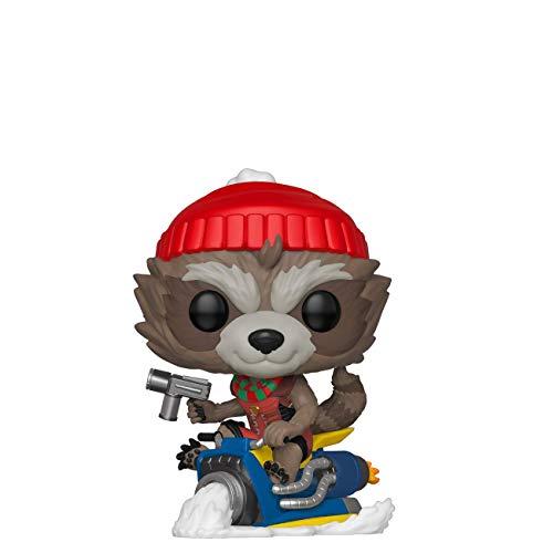 Funko POP! Bobble Vinyl Marvel: Holiday - Rocket, Mehrfarben,...