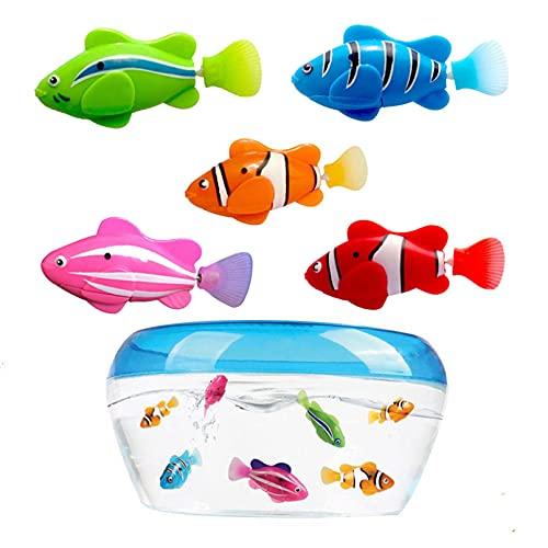 LDGGS 5 Stück/Set Elektronische Fische Schwimmen Spielzeug Katze...