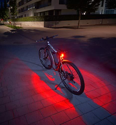 FISCHER Twin Fahrrad-Rücklicht mit 360° Bodenleuchte für mehr...