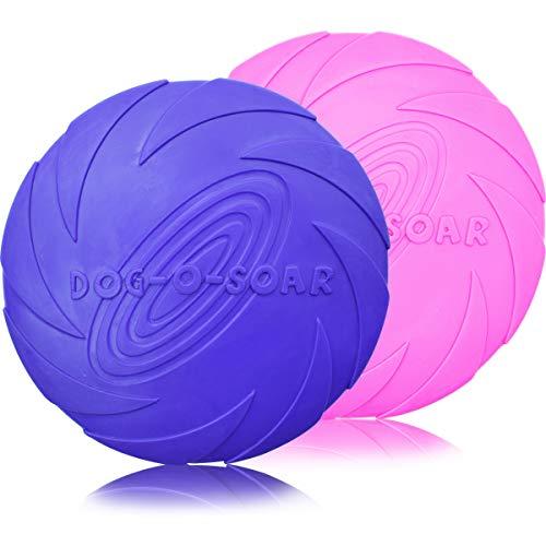 ZSWQ Frisbee - 2 Stück Hundefrisbee hundespielzeug Frisbee...