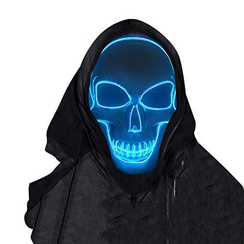 SOUTHSKY LED Maske Leuchtend Schädel Maske mit Led Licht...