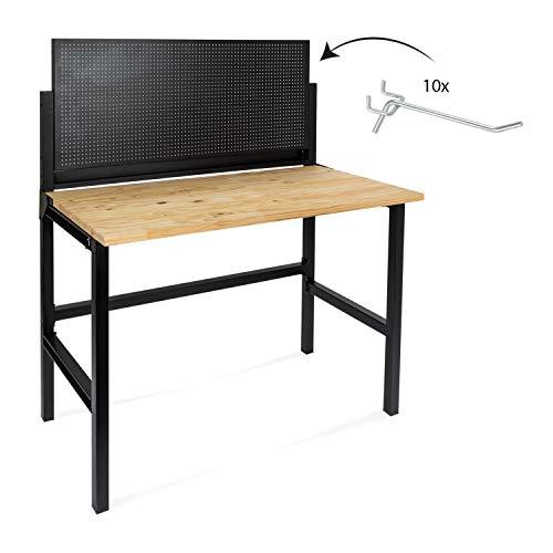 rikta Klappbare Werkbank | Klappbarer Werktisch | Freistehend | ca. 121,5 x 64,6 x 142,0 cm...